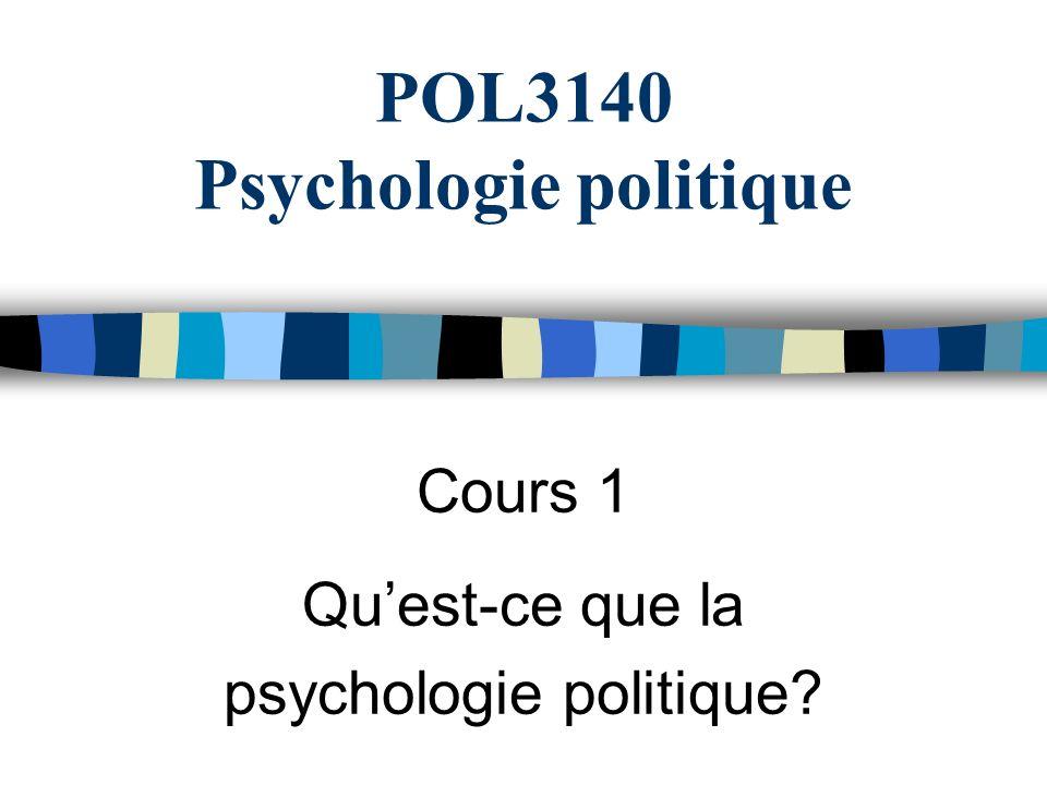 POL3140 Psychologie politique