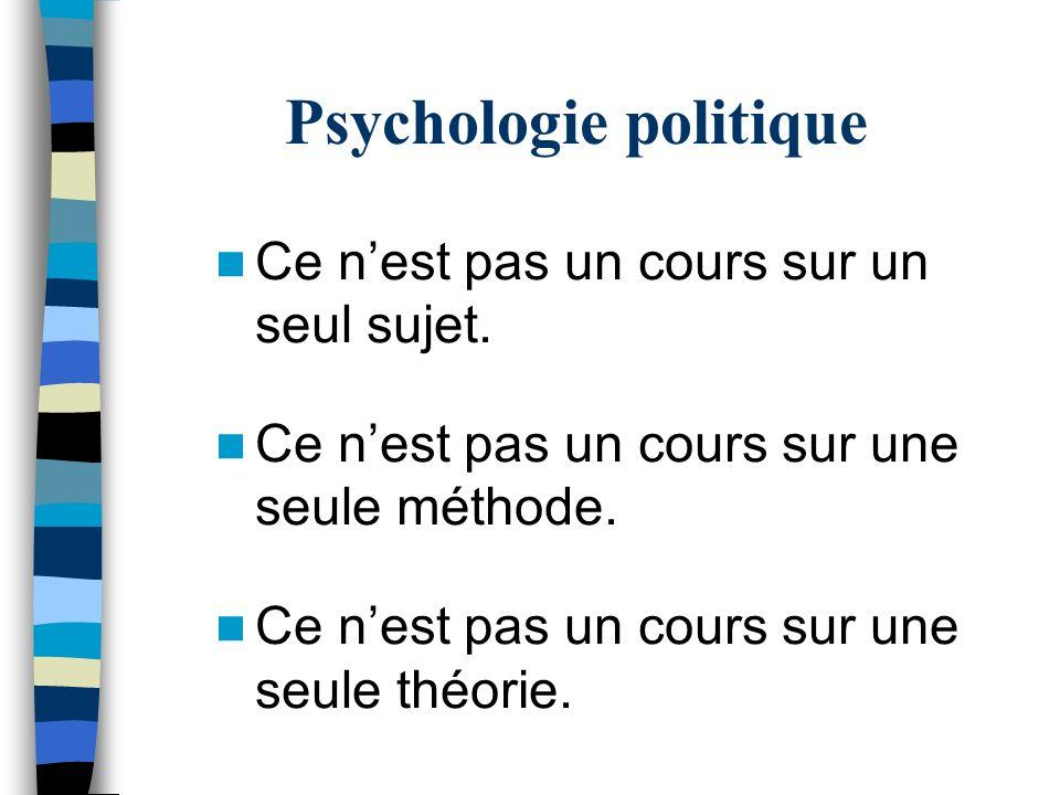 Psychologie politique