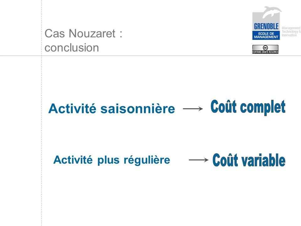 Cas Nouzaret : conclusion