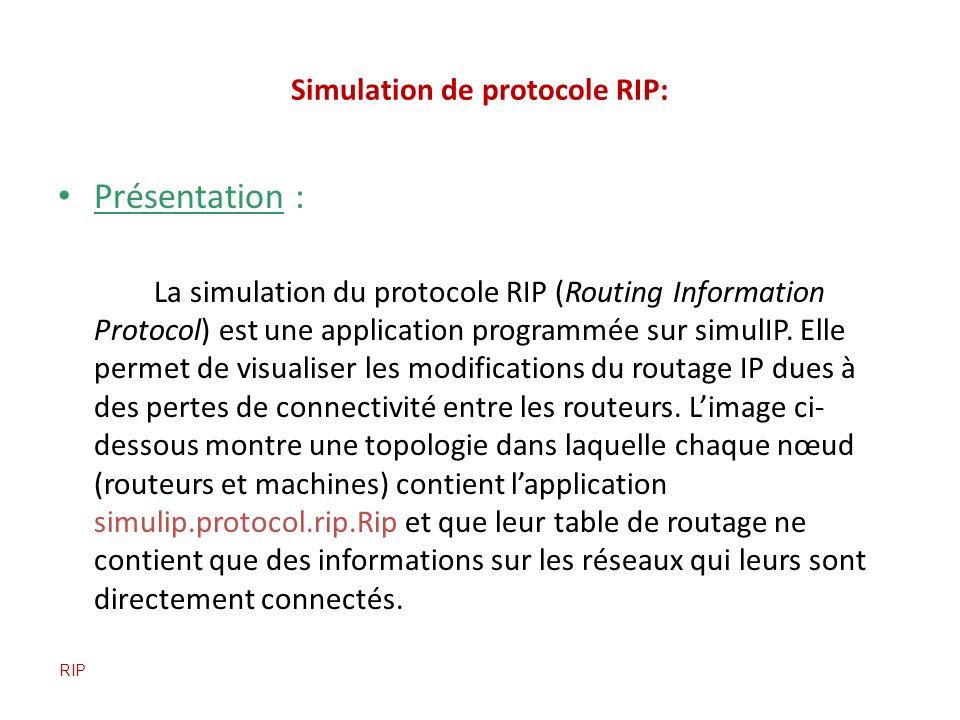 Simulation de protocole RIP: