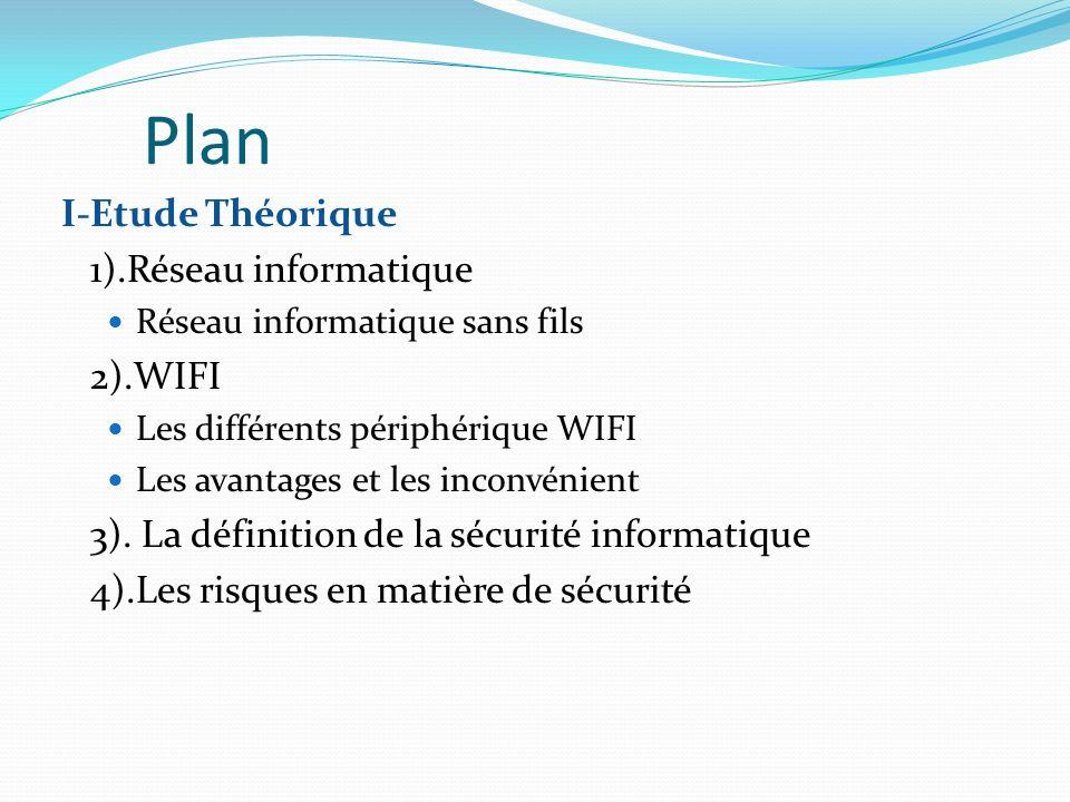 Plan I-Etude Théorique 1).Réseau informatique 2).WIFI