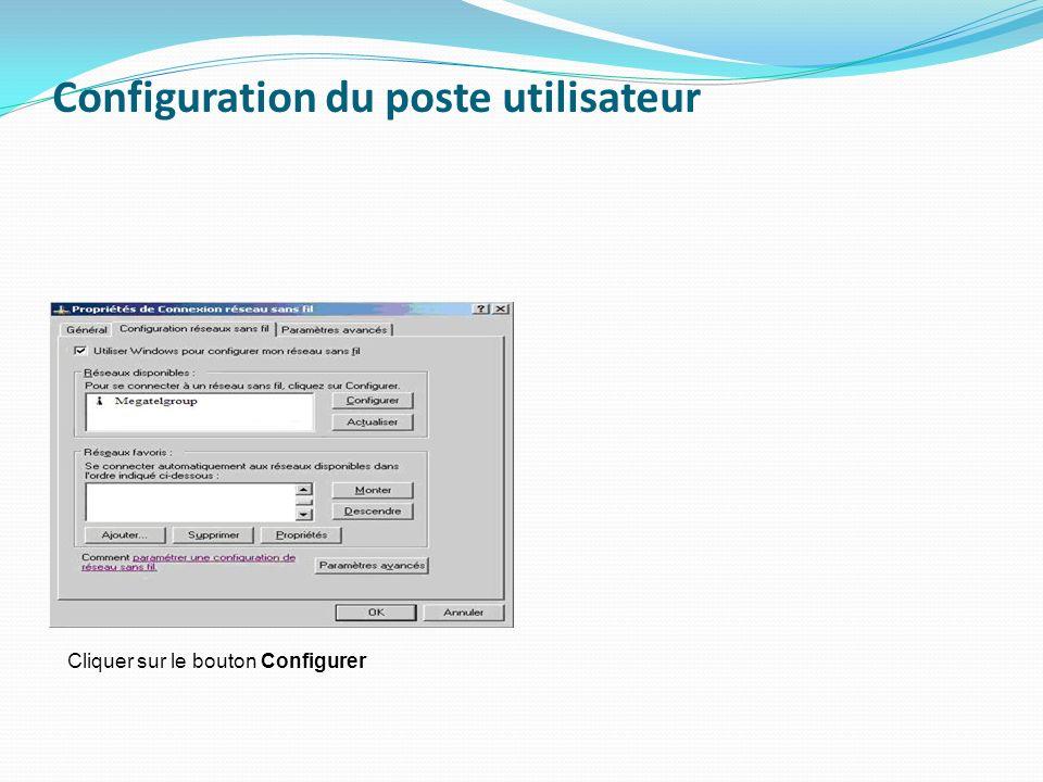 Configuration du poste utilisateur