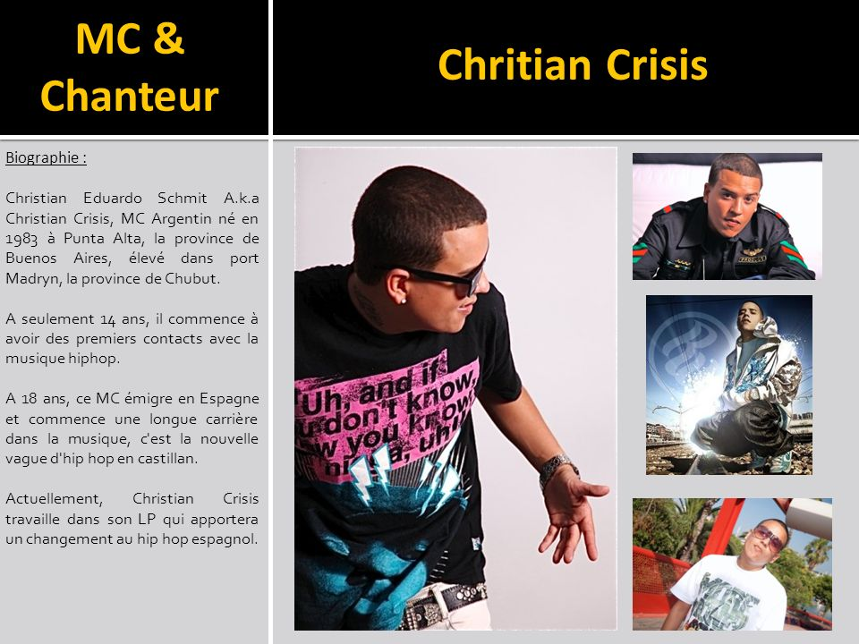 Chritian Crisis MC & Chanteur