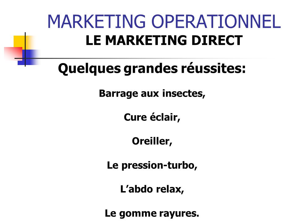 Marketing operationnel ppt t l charger - Barrage aux insectes ...