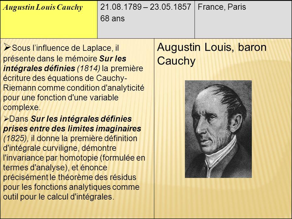 Augustin Louis, baron Cauchy