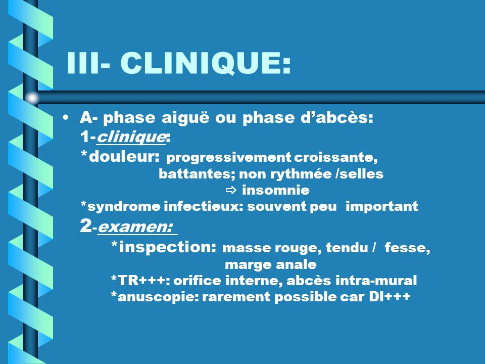 III- CLINIQUE: