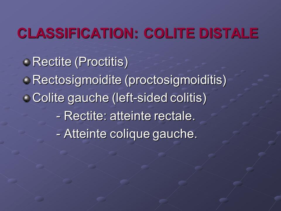CLASSIFICATION: COLITE DISTALE