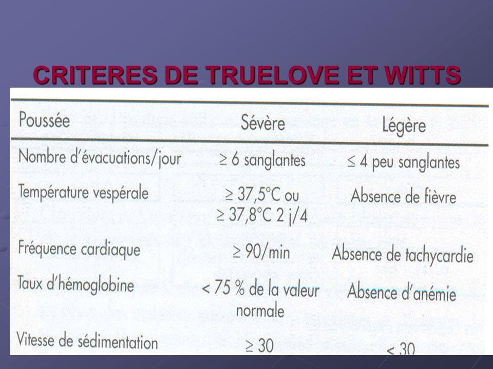 CRITERES DE TRUELOVE ET WITTS