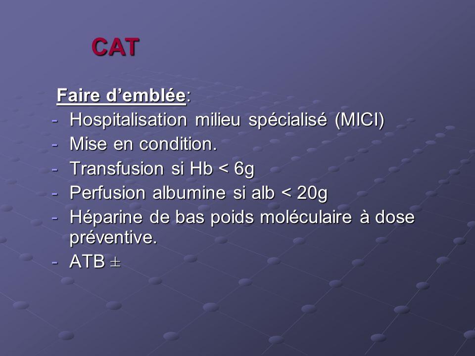 CAT Faire d'emblée: Hospitalisation milieu spécialisé (MICI)