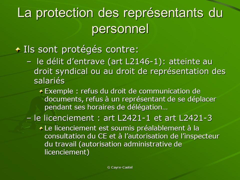 La protection des représentants du personnel