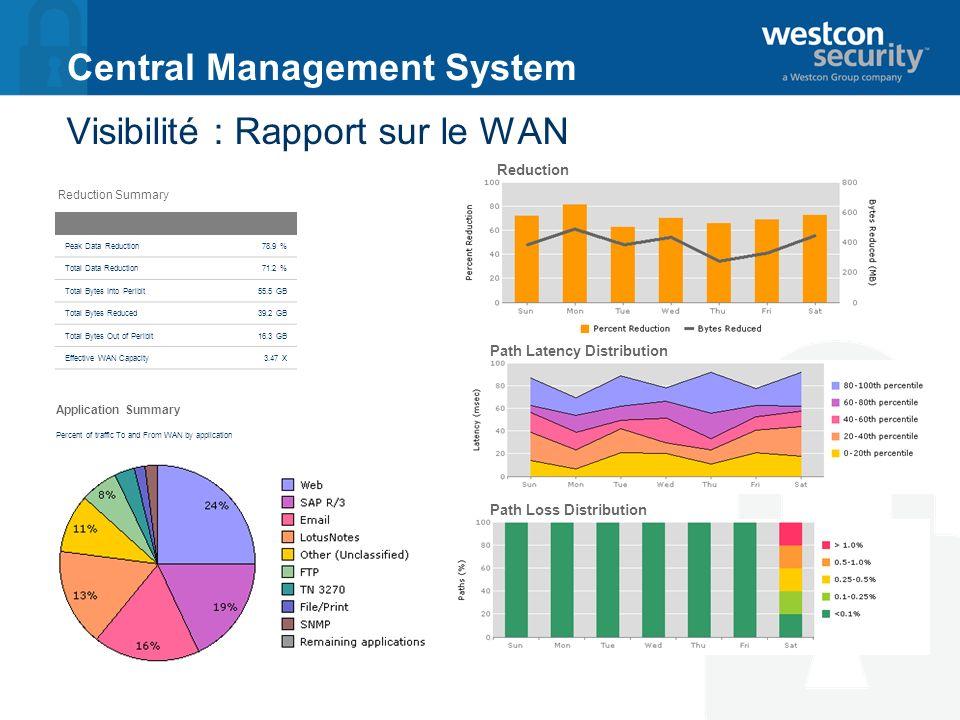 Visibilité : Rapport sur le WAN