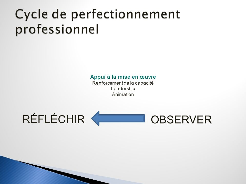 Cycle de perfectionnement professionnel