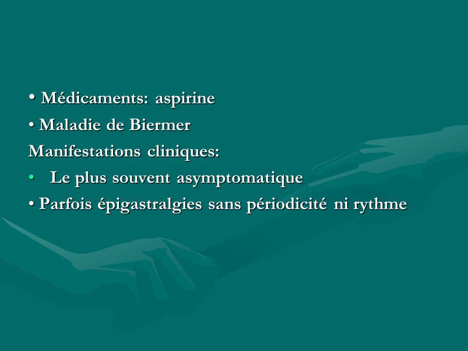 • Médicaments: aspirine