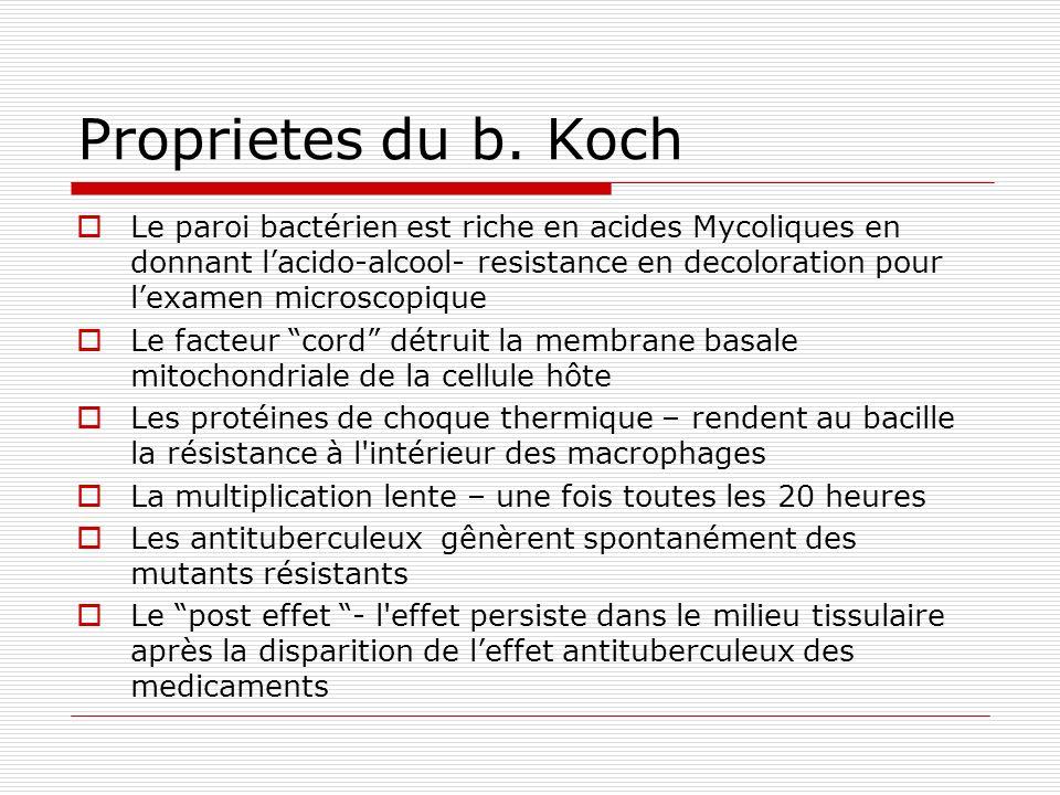 Proprietes du b. Koch