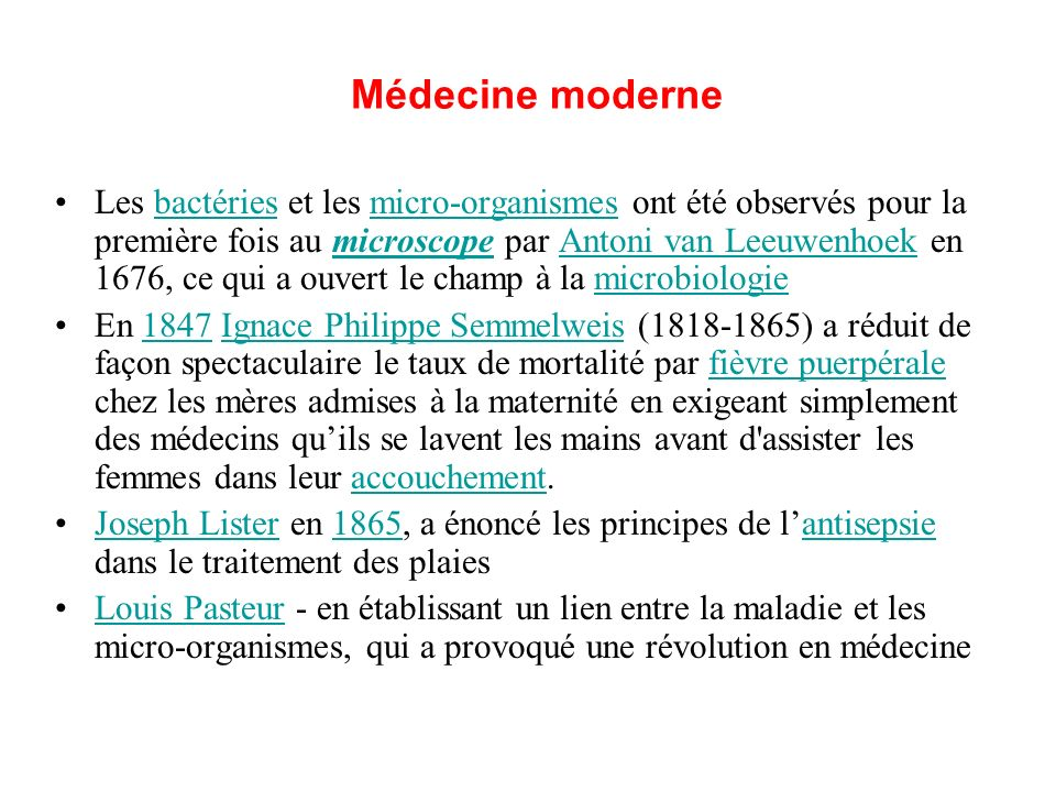 Médecine moderne