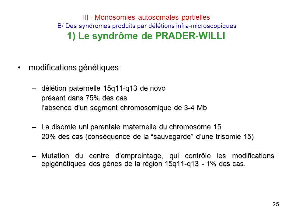 modifications génétiques: