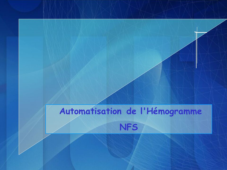 Automatisation de l Hémogramme