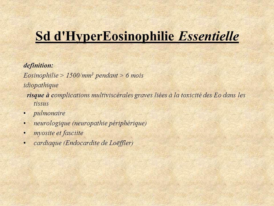 Sd d HyperEosinophilie Essentielle