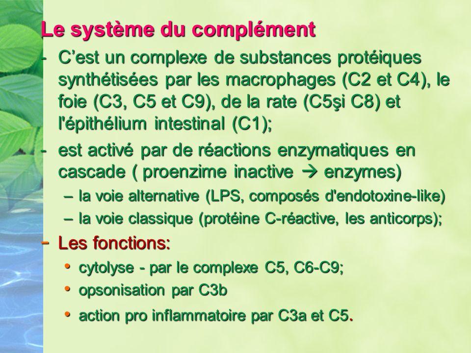 Le système du complément