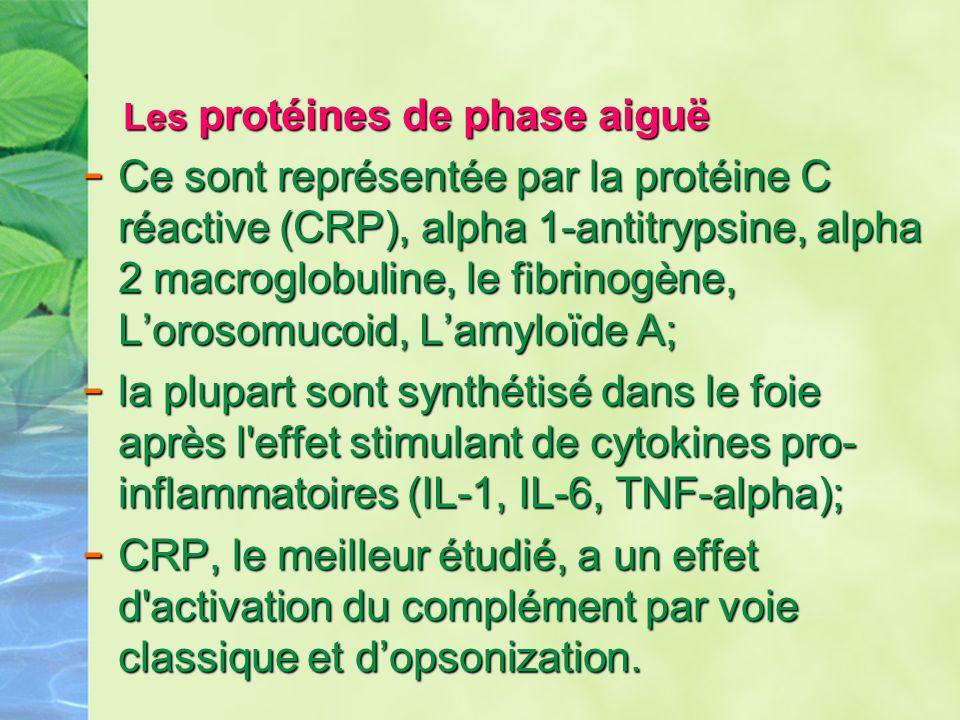 Les protéines de phase aiguë