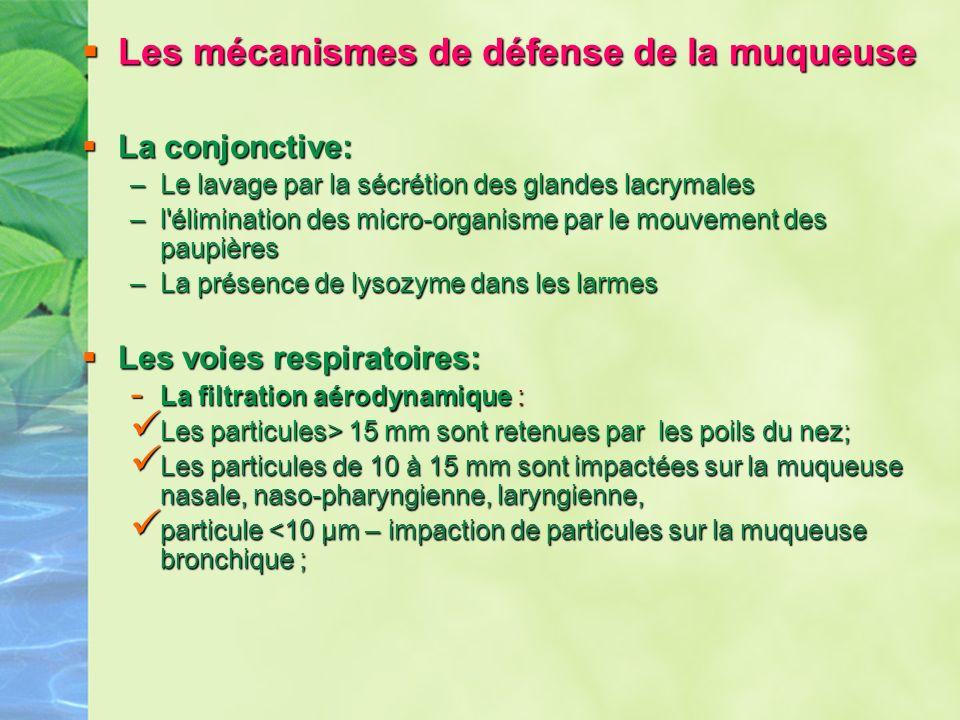 Les mécanismes de défense de la muqueuse
