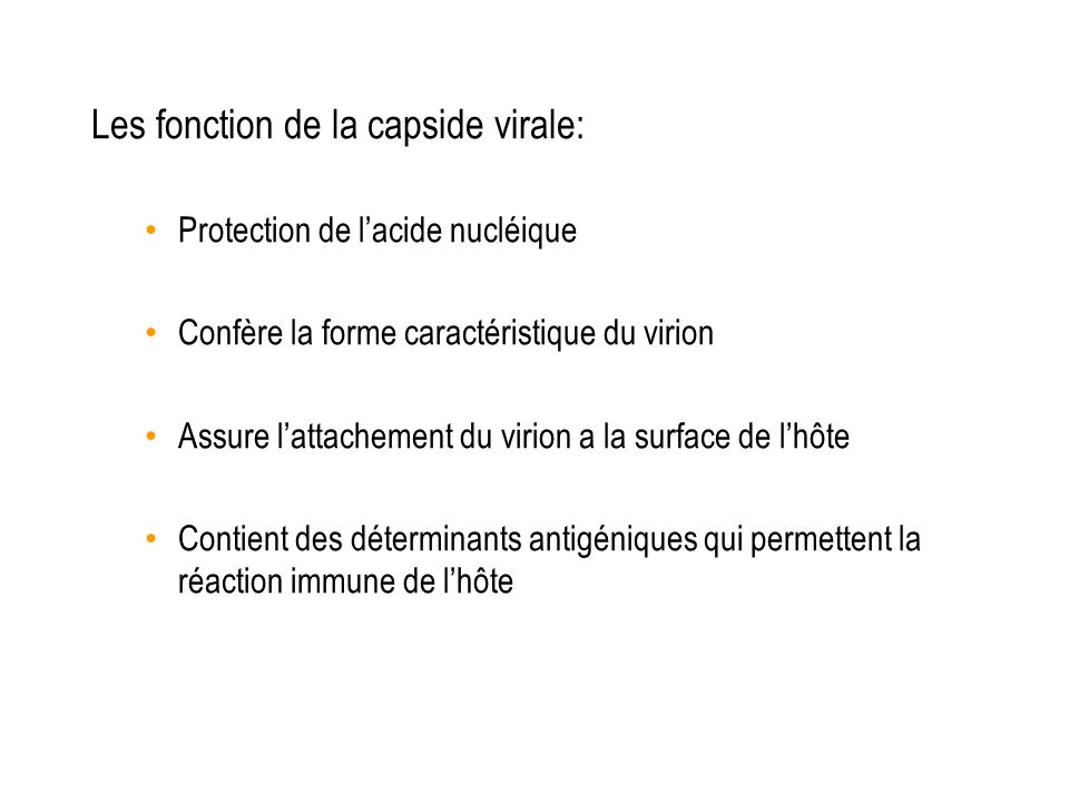 Les fonction de la capside virale: