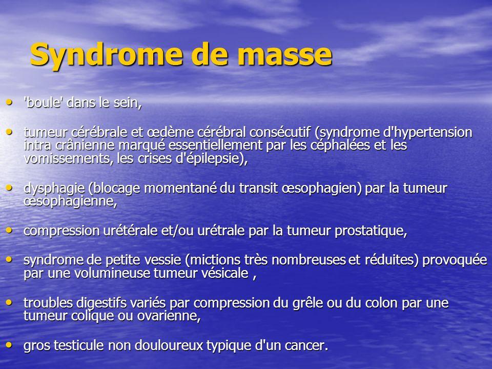 Syndrome de masse boule dans le sein,