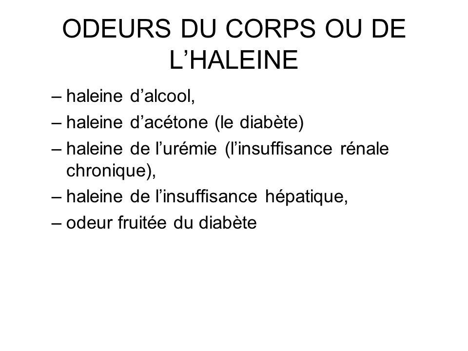 ODEURS DU CORPS OU DE L'HALEINE