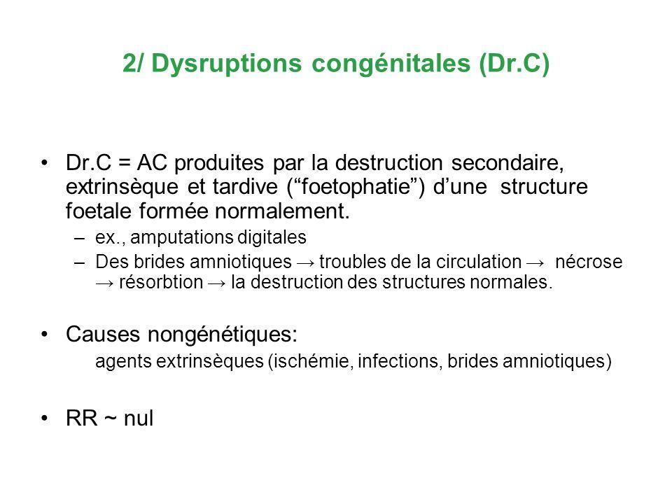 2/ Dysruptions congénitales (Dr.C)