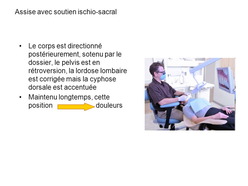 Assise avec soutien ischio-sacral