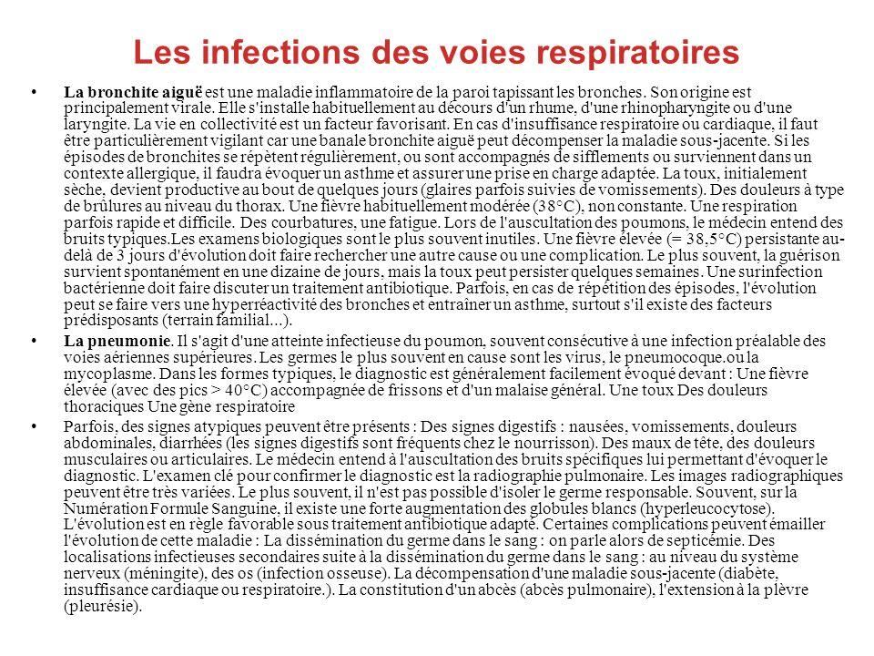 Les infections des voies respiratoires