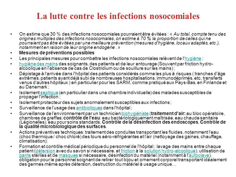 La lutte contre les infections nosocomiales