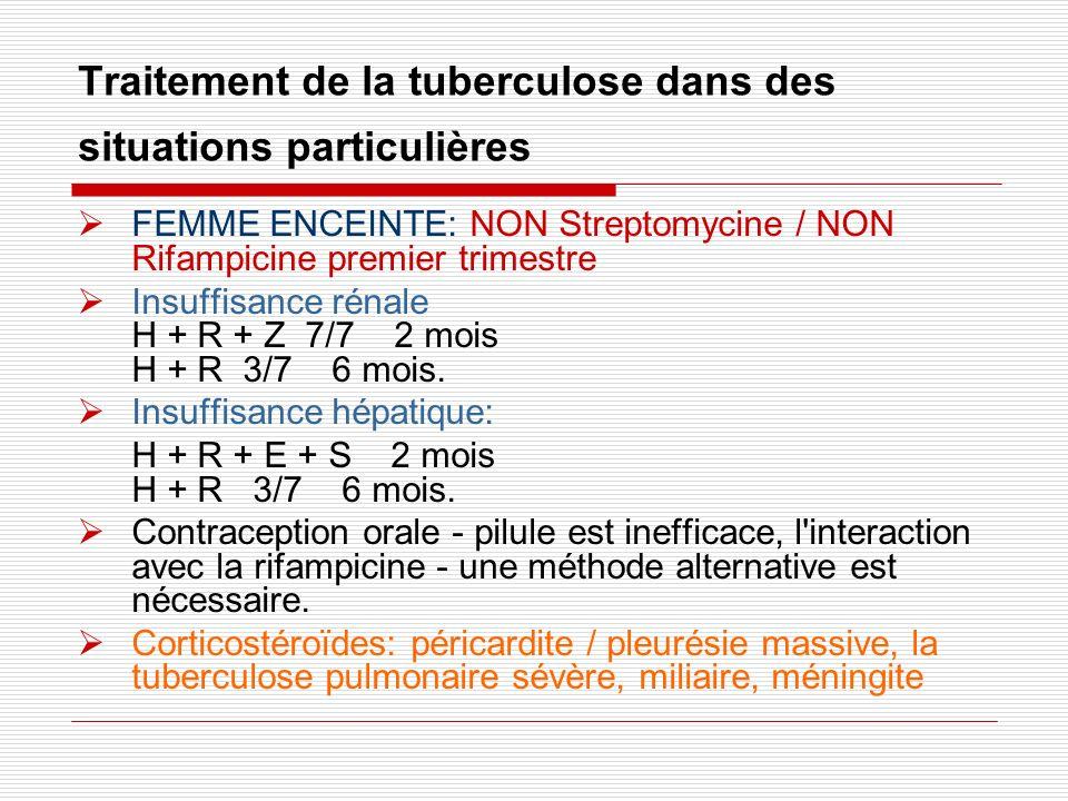 Traitement de la tuberculose dans des situations particulières