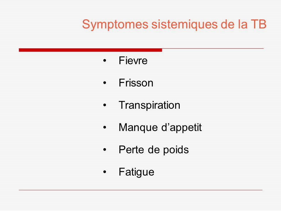 Symptomes sistemiques de la TB