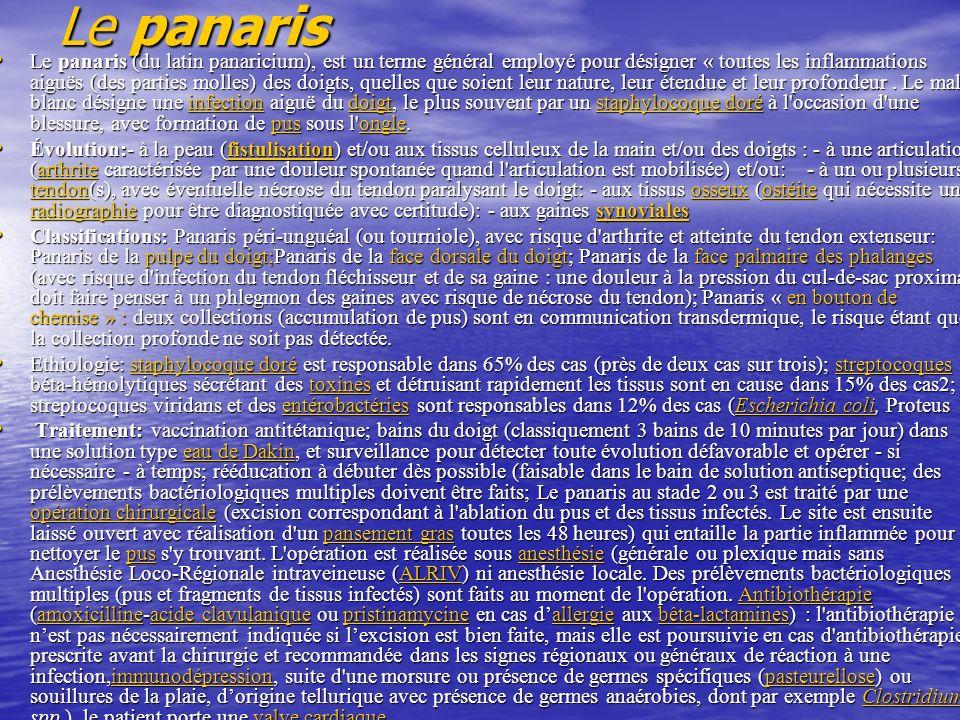 Le panaris