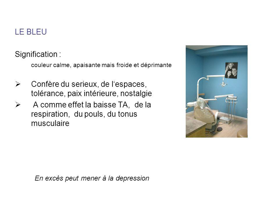 LE BLEU Signification :