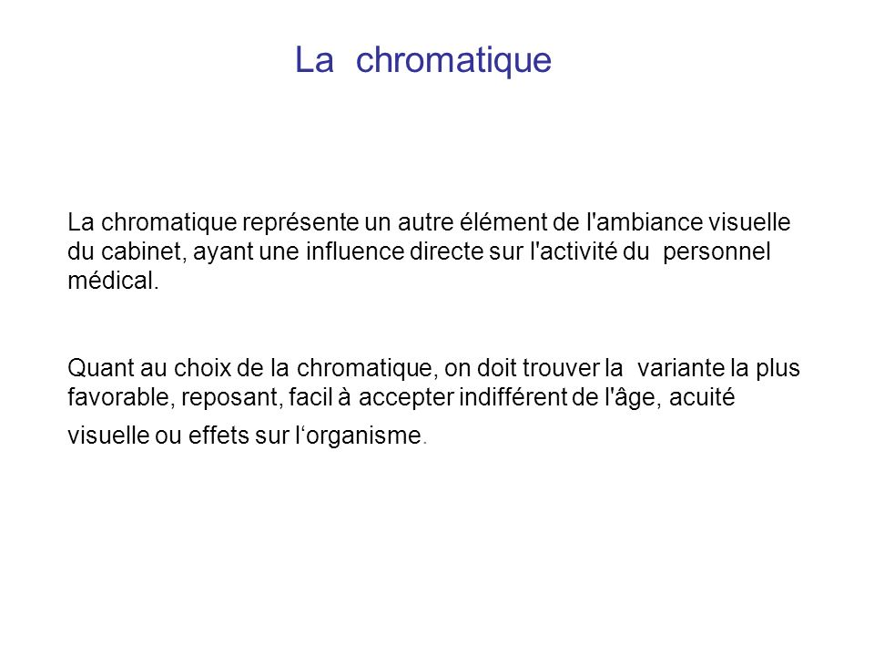 La chromatique