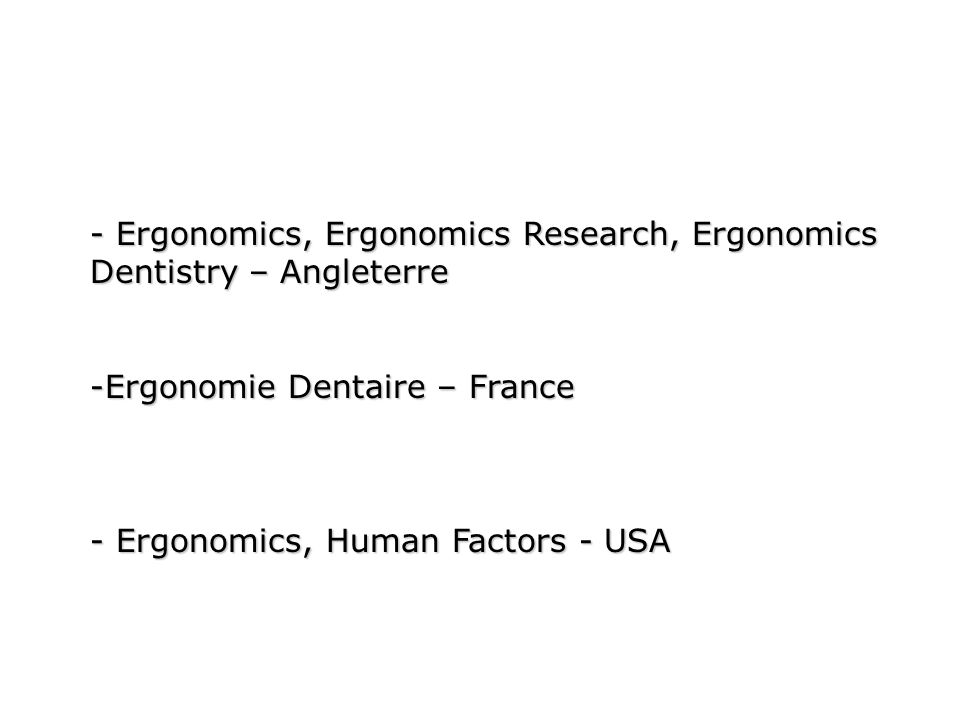 - Ergonomics, Ergonomics Research, Ergonomics