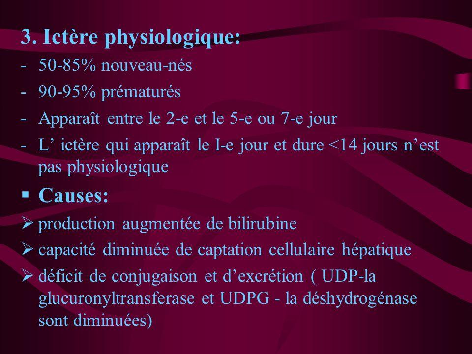 3. Ictère physiologique: