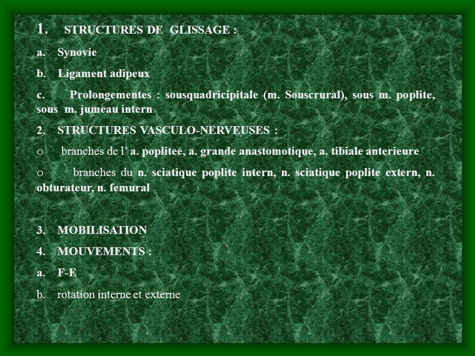 1. STRUCTURES DE GLISSAGE :