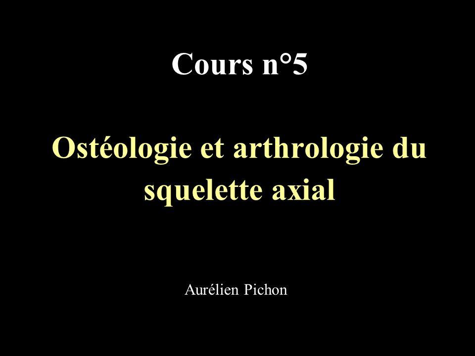 Cours n°5 Ostéologie et arthrologie du squelette axial