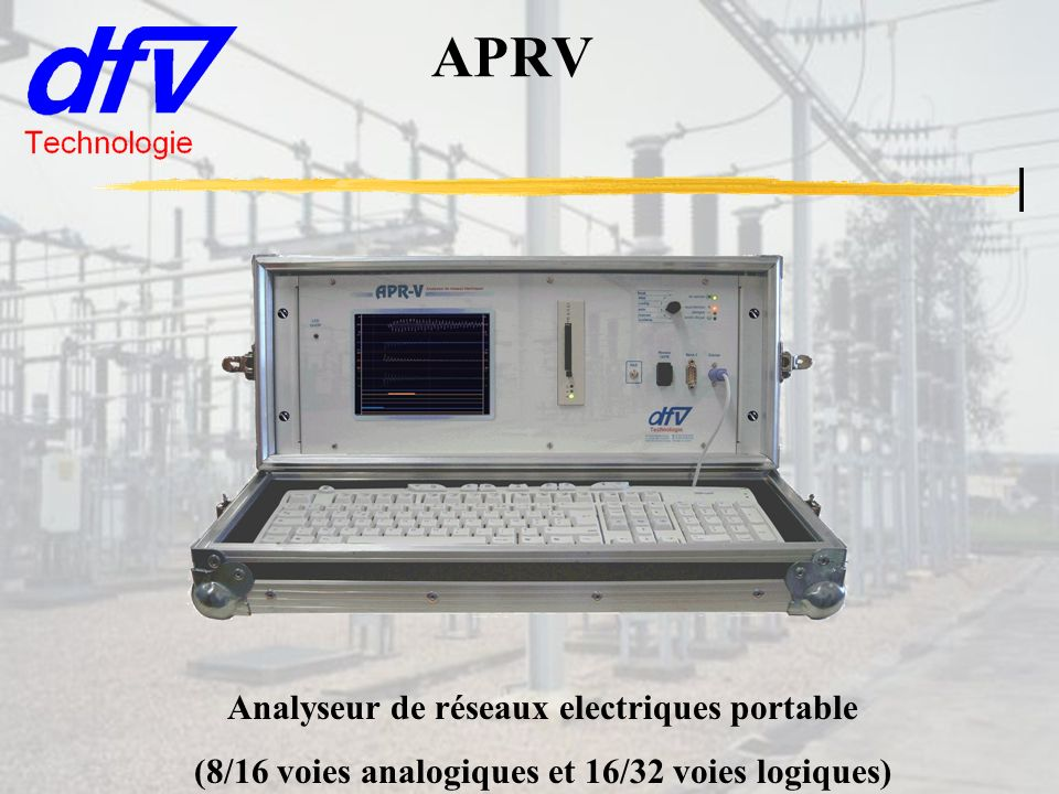 APRV Analyseur de réseaux electriques portable