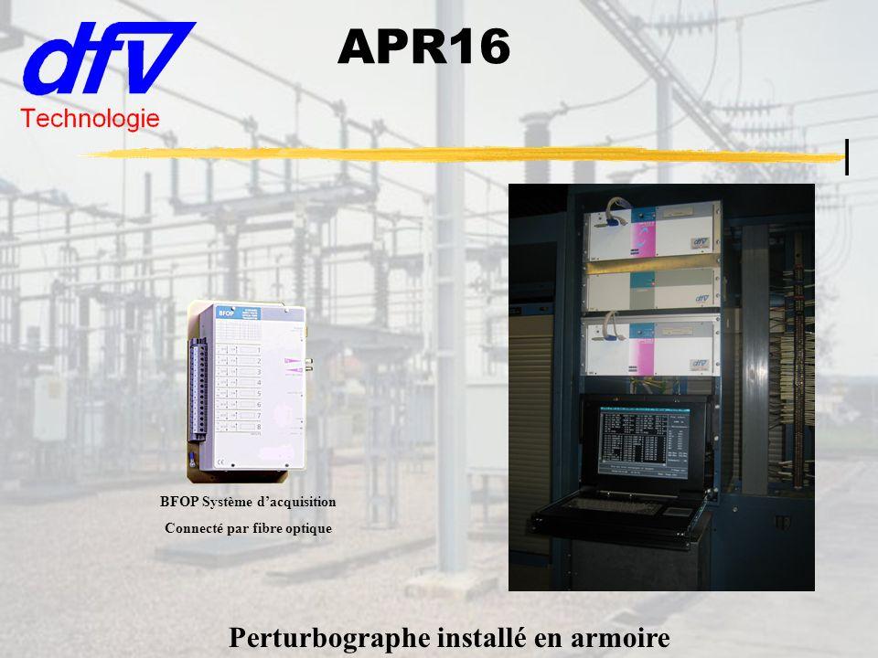 APR16 Perturbographe installé en armoire BFOP Système d'acquisition