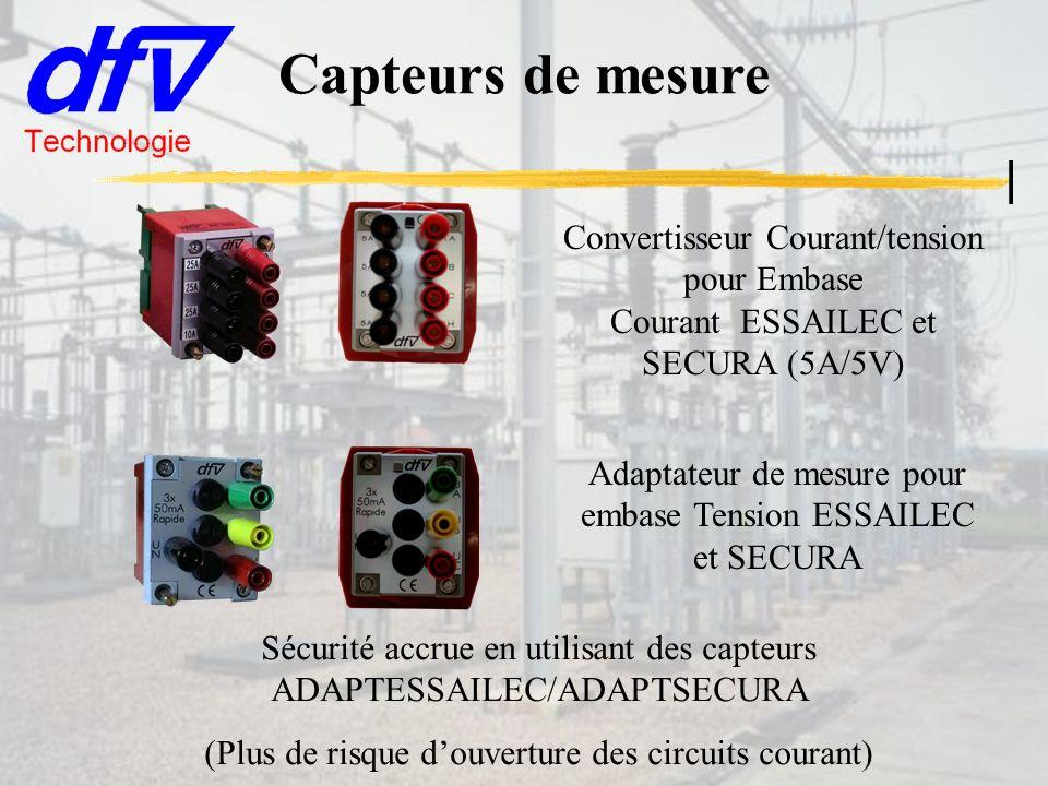 Capteurs de mesure Convertisseur Courant/tension pour Embase Courant ESSAILEC et SECURA (5A/5V)