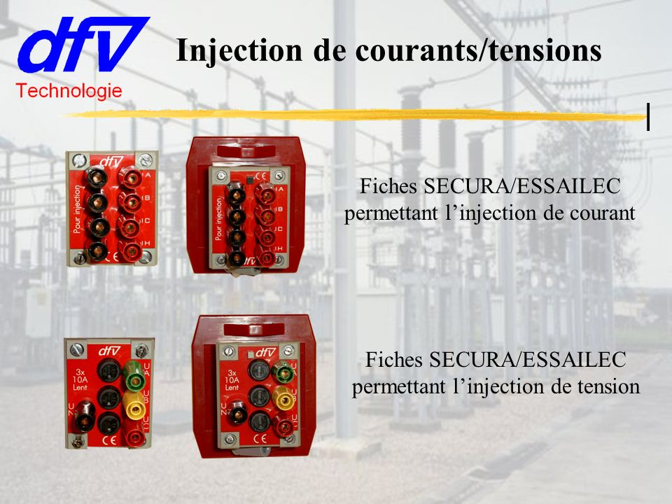 Injection de courants/tensions