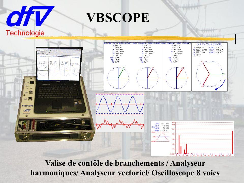 VBSCOPE Valise de contôle de branchements / Analyseur harmoniques/ Analyseur vectoriel/ Oscilloscope 8 voies.