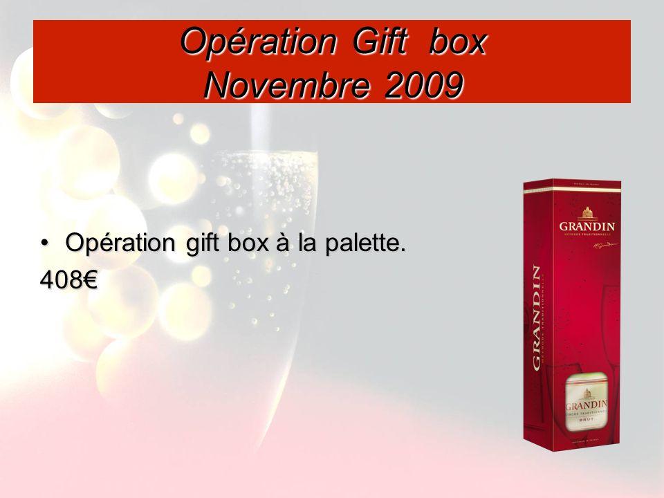 Opération Gift box Novembre 2009