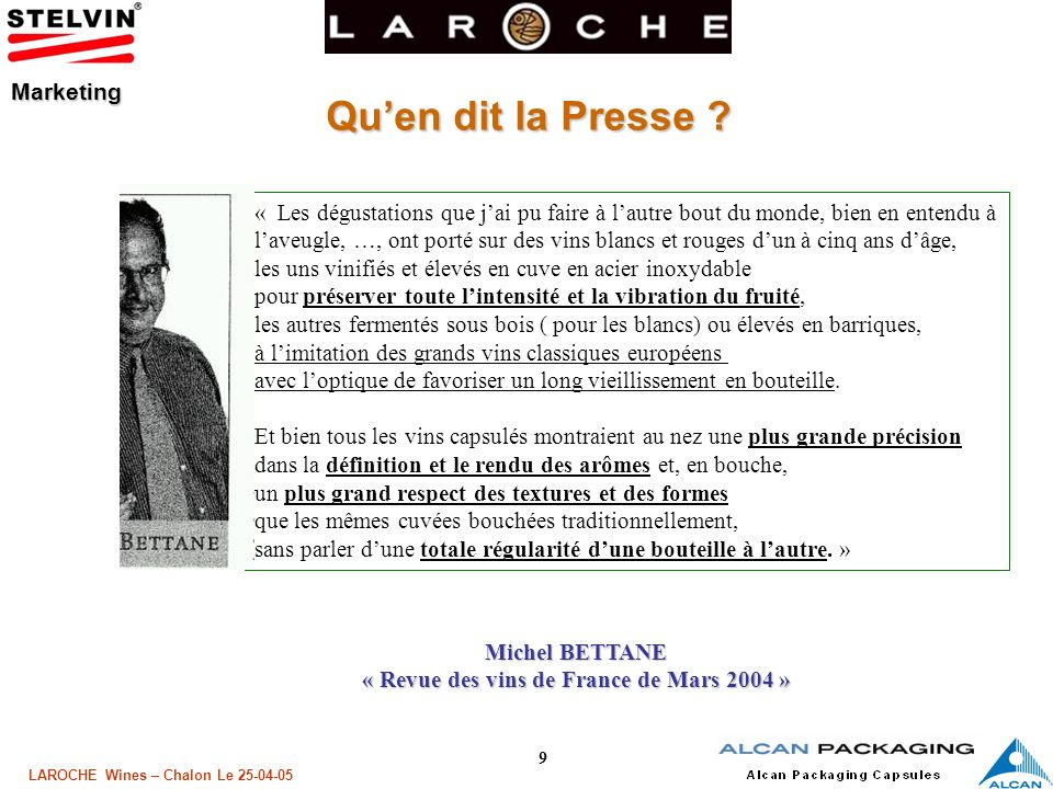 « Revue des vins de France de Mars 2004 »