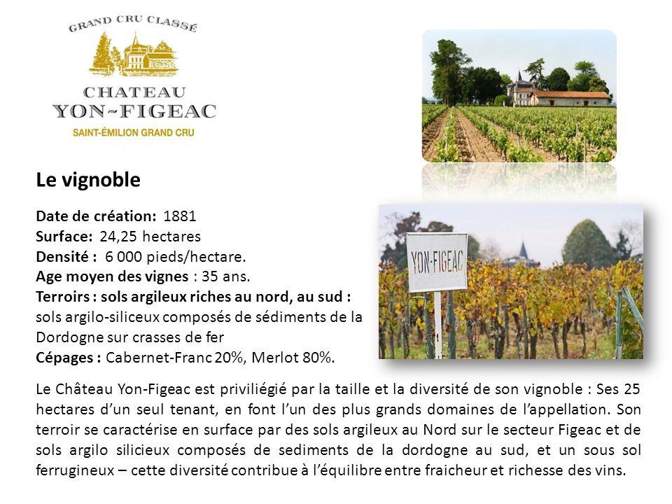 Le vignoble Date de création: 1881 Surface: 24,25 hectares