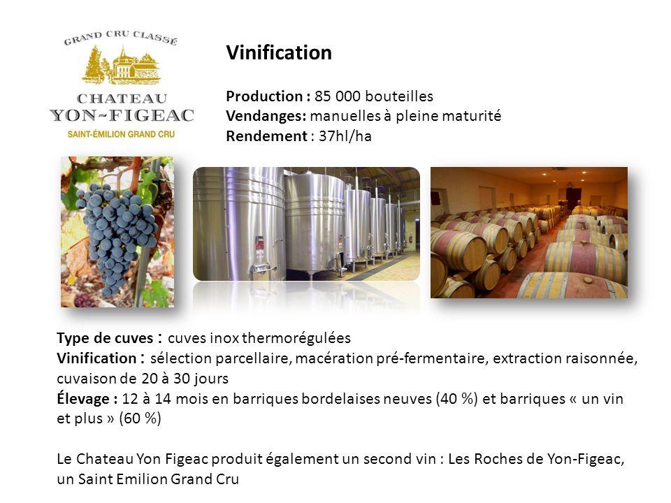 Vinification Production : 85 000 bouteilles